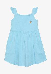 Lemon Beret - SMALL GIRLS DRESS - Žerzejové šaty - turquoise - 3
