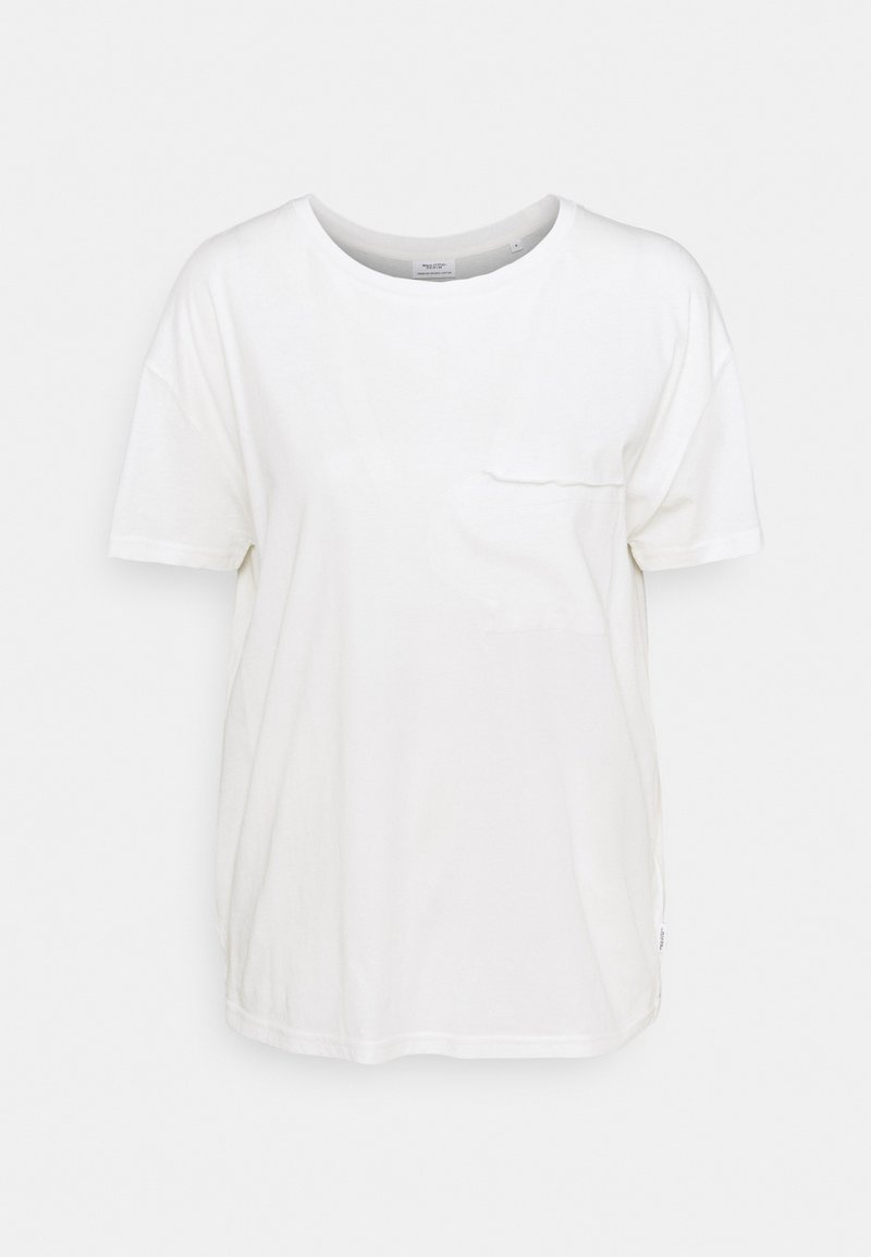 Marc O'Polo DENIM - SHORT SLEEVE PATCHED POCKET LOOSE BODYSHAPE - Basic T-shirt - scandinavian white