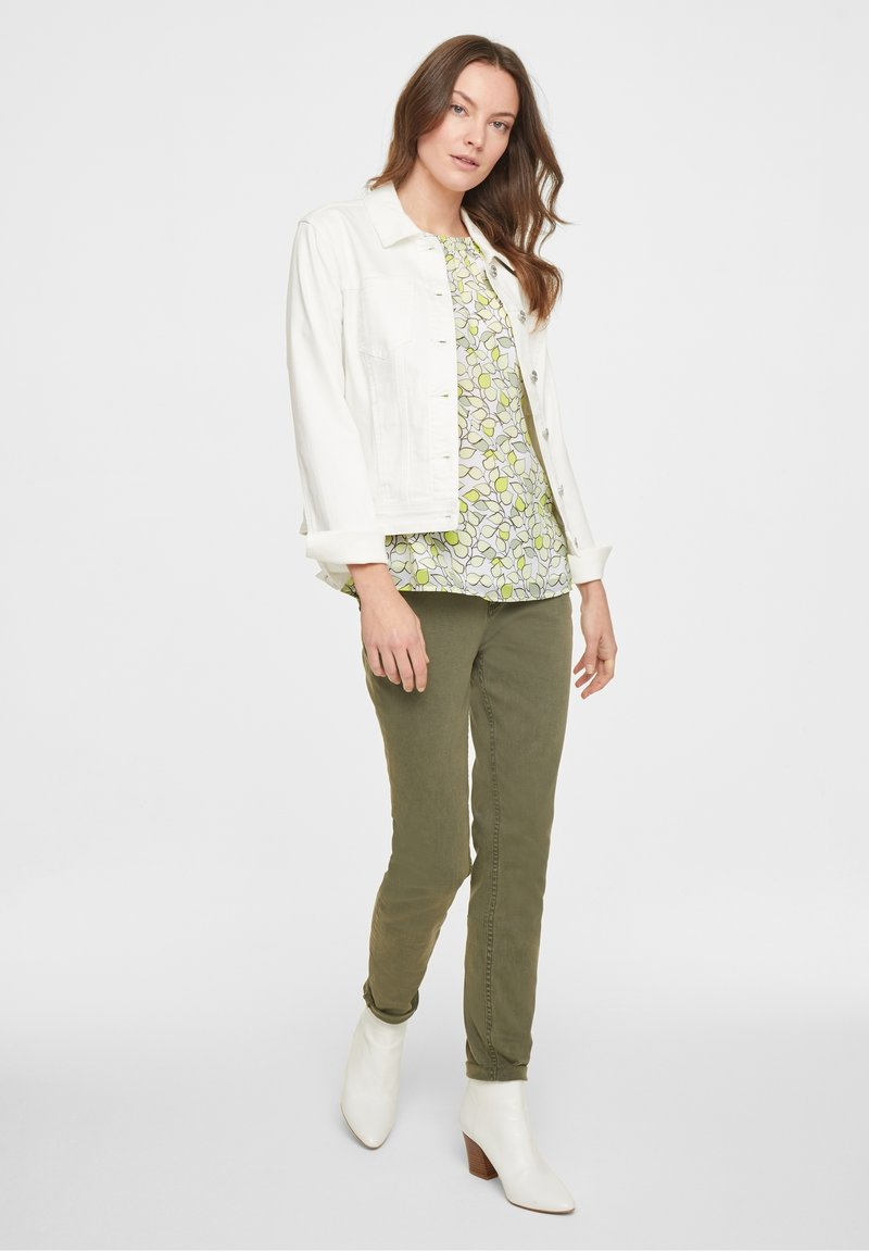 comma casual identity - Blouse - offwhite leaf