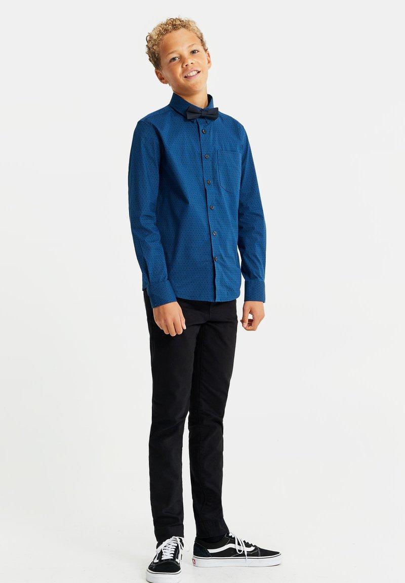 WE Fashion - MET DESSIN - Overhemd - dark blue