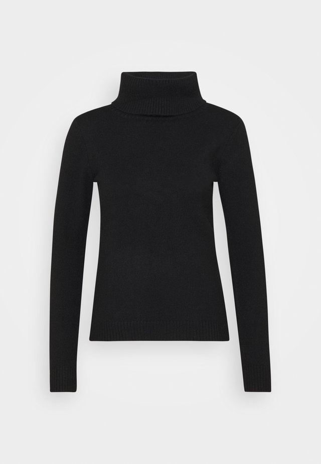 FITTED SPONGY TURTLE NECK - Sweter - black