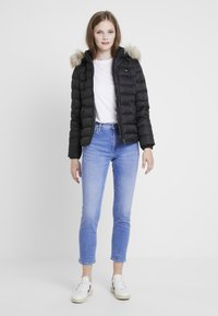 Tommy Jeans - ESSENTIAL HOODED JACKET - Down jacket - tommy black - 1