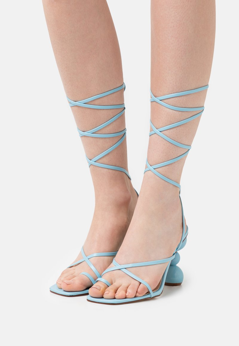 BEBO - CLAUDIA - T-bar sandals - blue