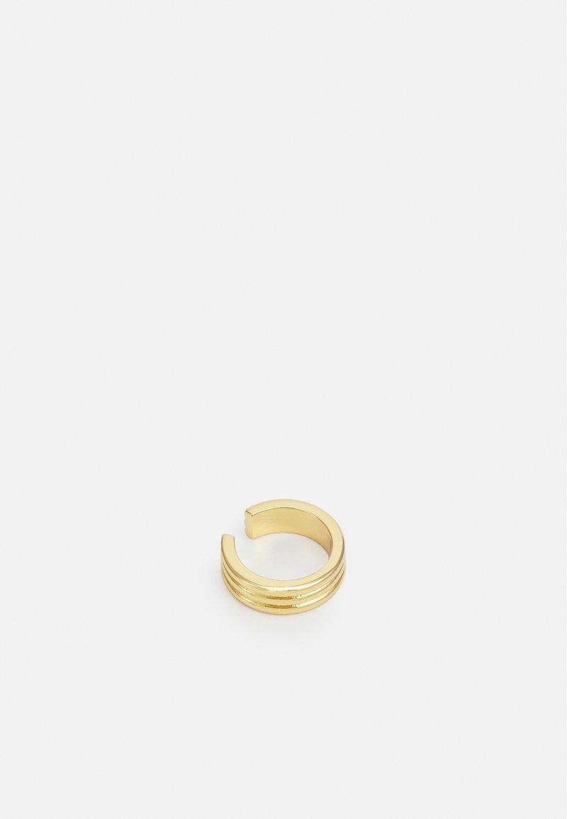 Orelia - LINEAR SINGLE EAR CUFF - Earrings - pale gold-coloured