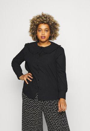 CARPANDANO COLLAR SHIRT - Button-down blouse - black