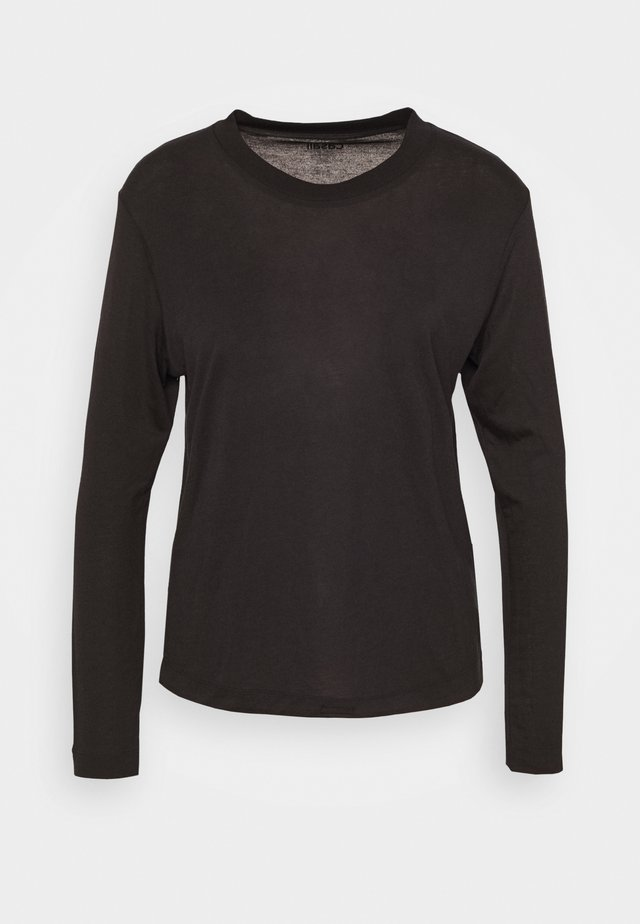 EASE CREW NECK - Camiseta de manga larga - black