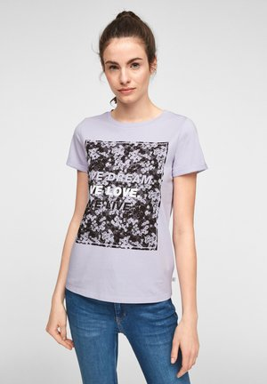 MIT FRONTPRINT - Print T-shirt - lilac