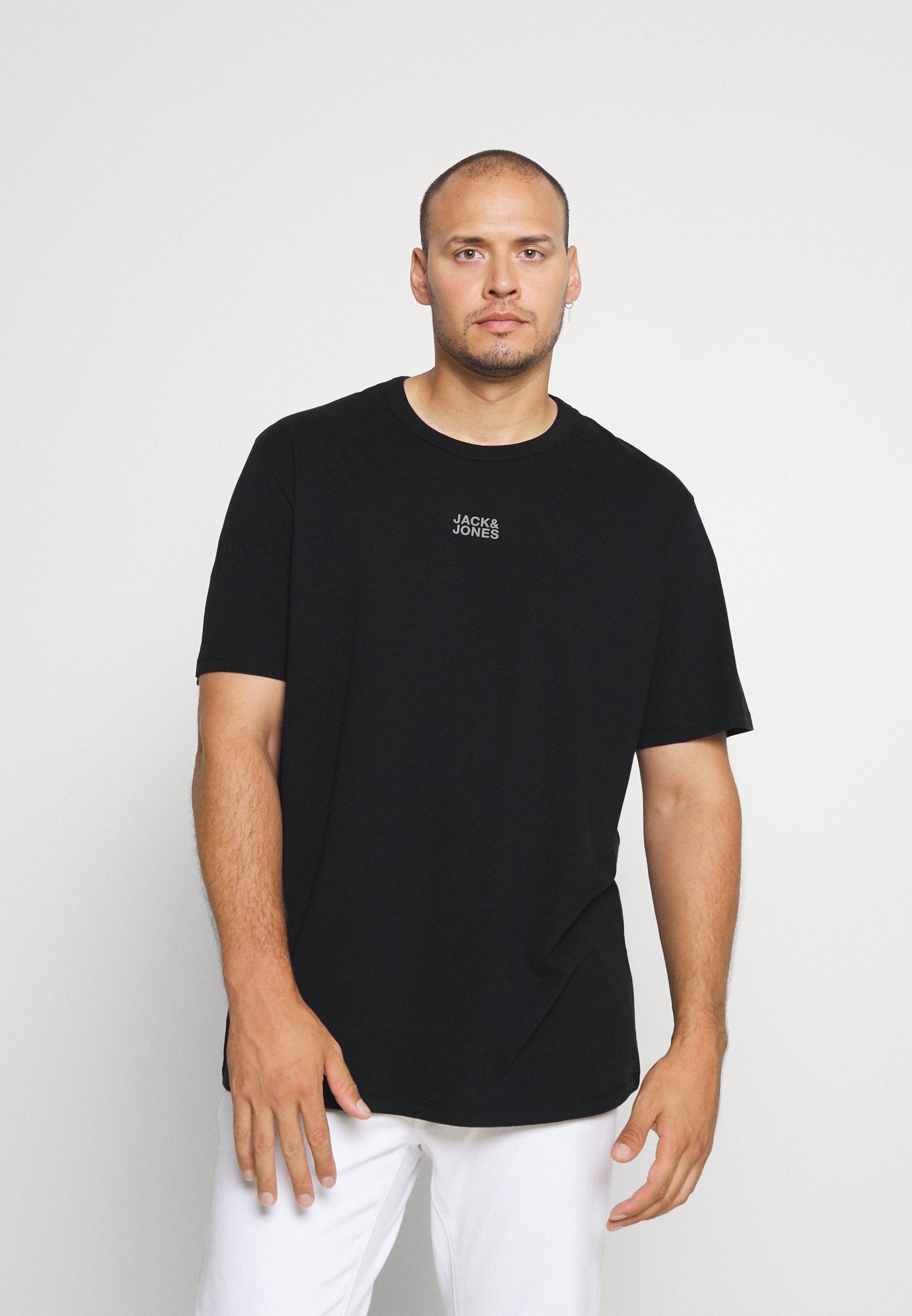 Homme JCOCLASSIC TEE CREW NECK - T-shirt imprimé - black