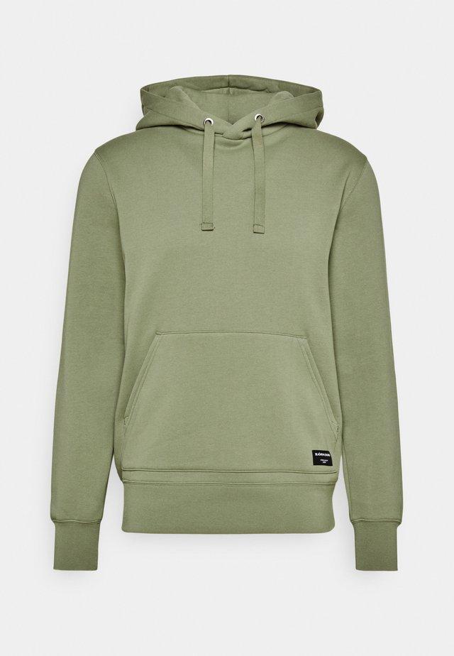 CENTRE HOOD - Sweater - oil green