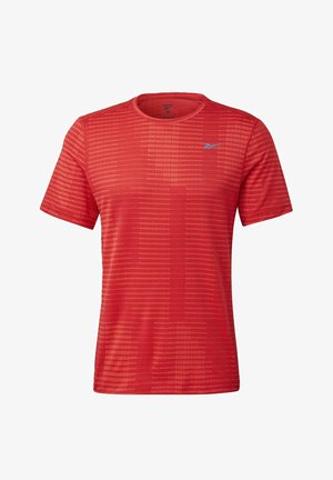 RUN JACQUARD T-SHIRT - Camiseta estampada - red