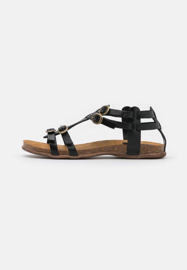 ANA - Sandaalit nilkkaremmillä - noir
