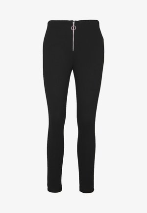 LEGGINGS WITH ZIP DETAIL - Legíny - black