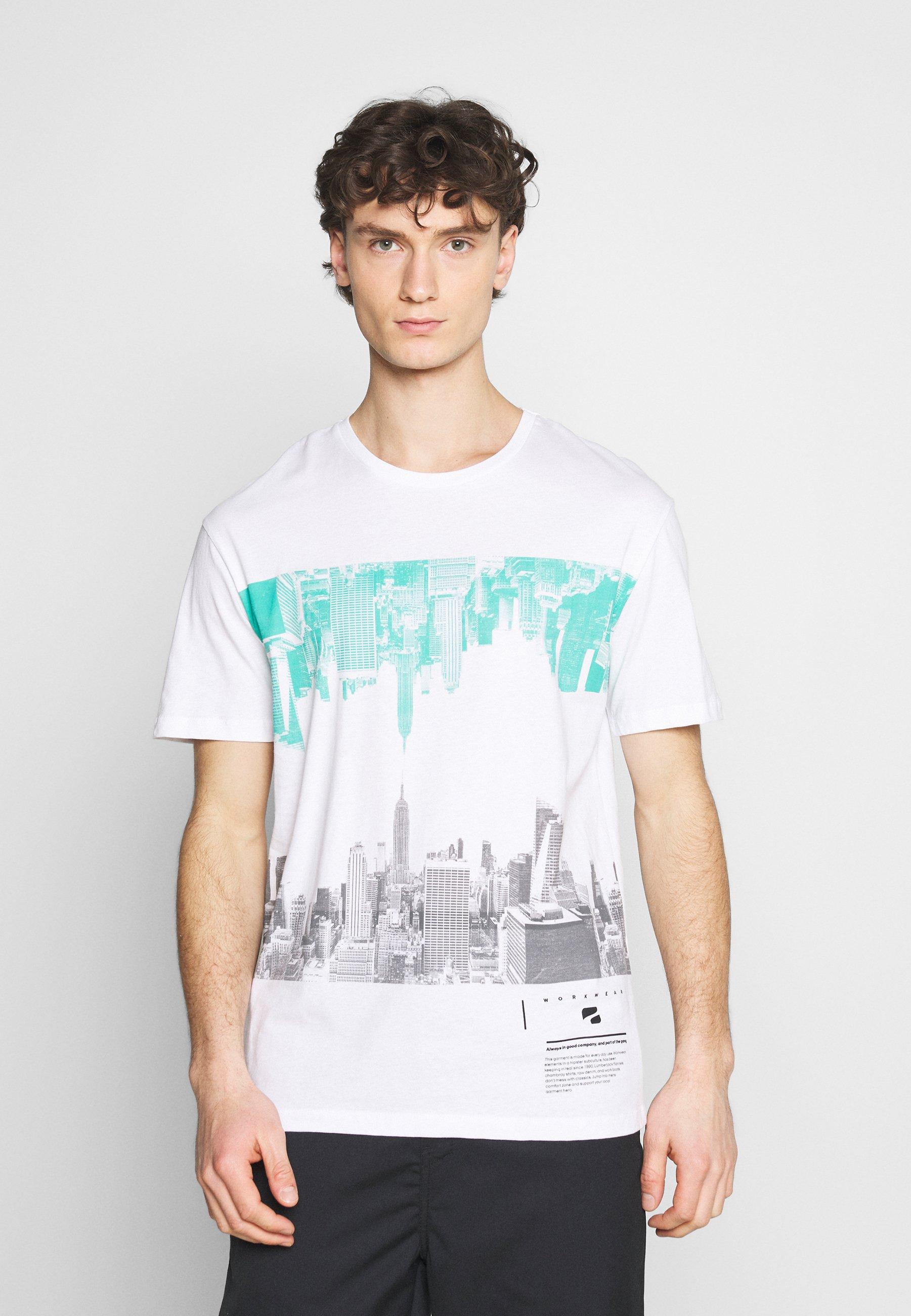 Men JORSKYLINE TEE CREW NECK - Print T-shirt