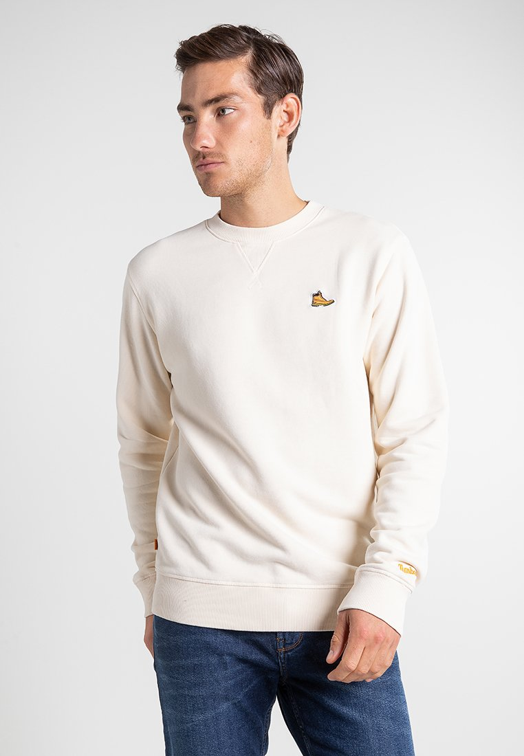 Timberland - BOOT LOGO CREW NECK - Sweatshirt - white smoke