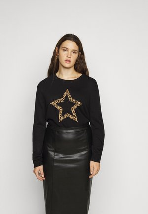 CURVE ANIMAL STAR JUMPER - Strikkegenser - black