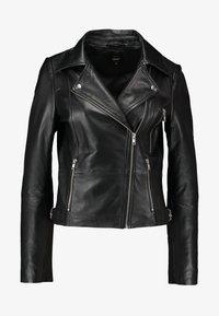 ONLY - ONLLENA BIKER - Veste en cuir - black - 4