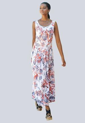 Maxi dress - weiss-marine-rot