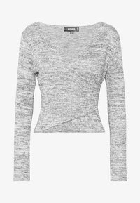 Missguided - BRUSHED WRAP - Jumper - grey - 4