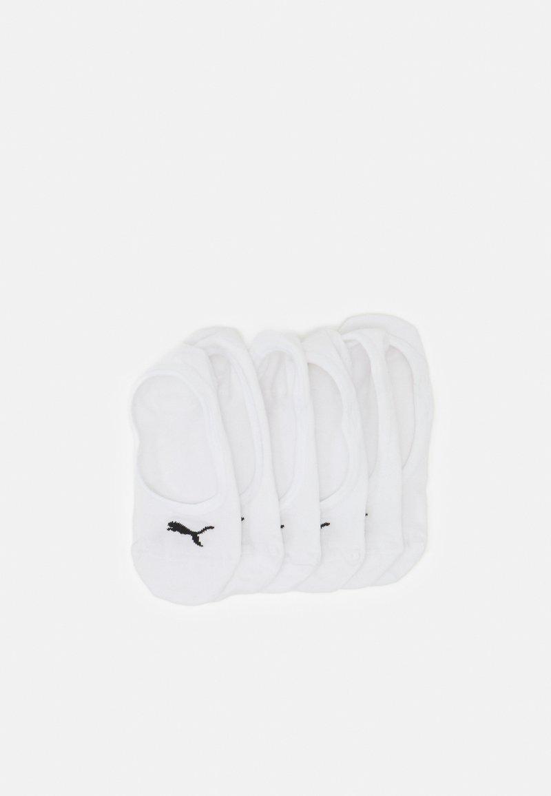 Puma - FOOTIE 6 PACK UNISEX - Trainer socks - white
