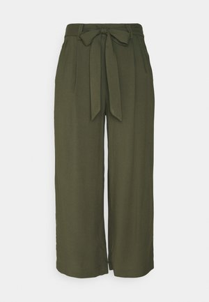 ONLNOVA LIFE CROP PALAZZO PANT - Stoffhose - grape leaf