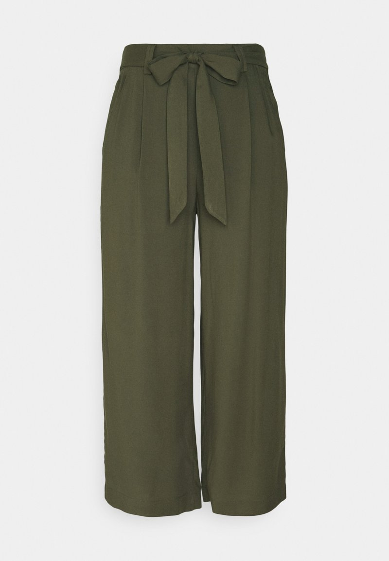ONLY - ONLNOVA LIFE CROP PALAZZO PANT - Trousers - grape leaf