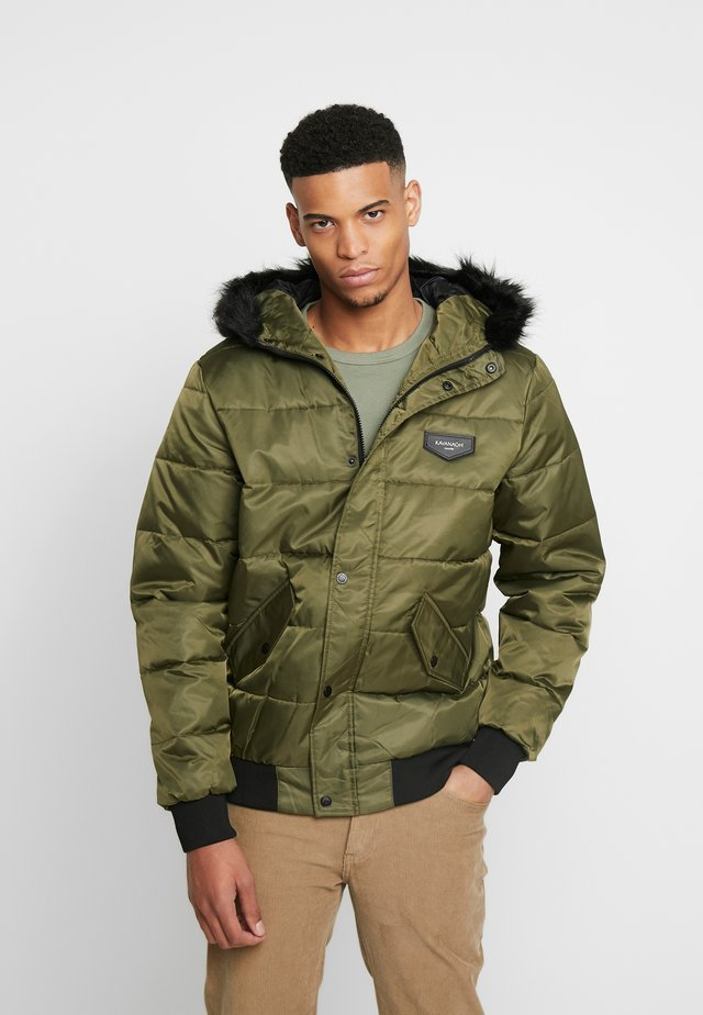 HOODED JACKET - Kurtka Bomber - green