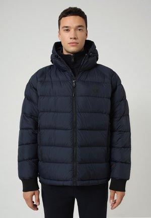 CIRCULAR PUFFER - Winter jacket - blu marine