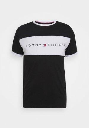 TEE LOGO FLAG - Pyjama top - black