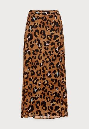 BOBO CATO SKIRT - Wrap skirt - cognac/black