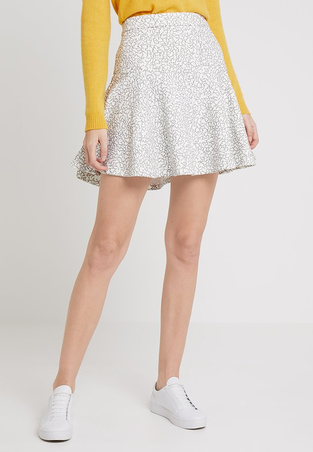 DISCO LADY - A-line skirt - white