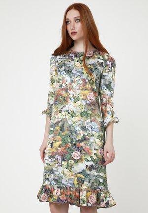 Korte jurk - grün gelb