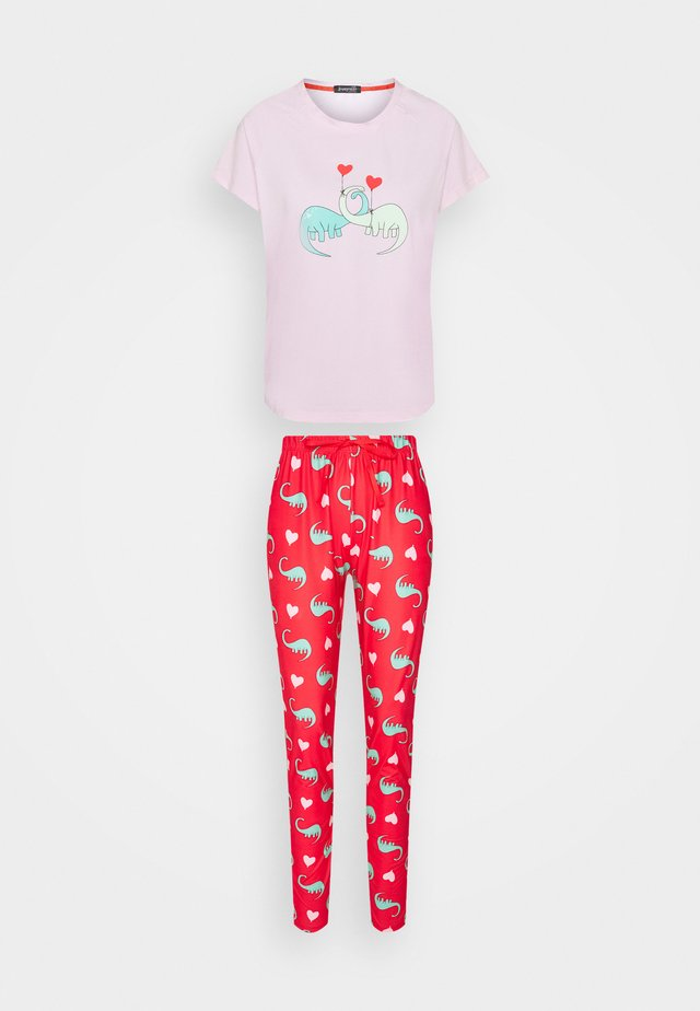 LOUNGEABLE DINOSAUR SET - Pyjama - red