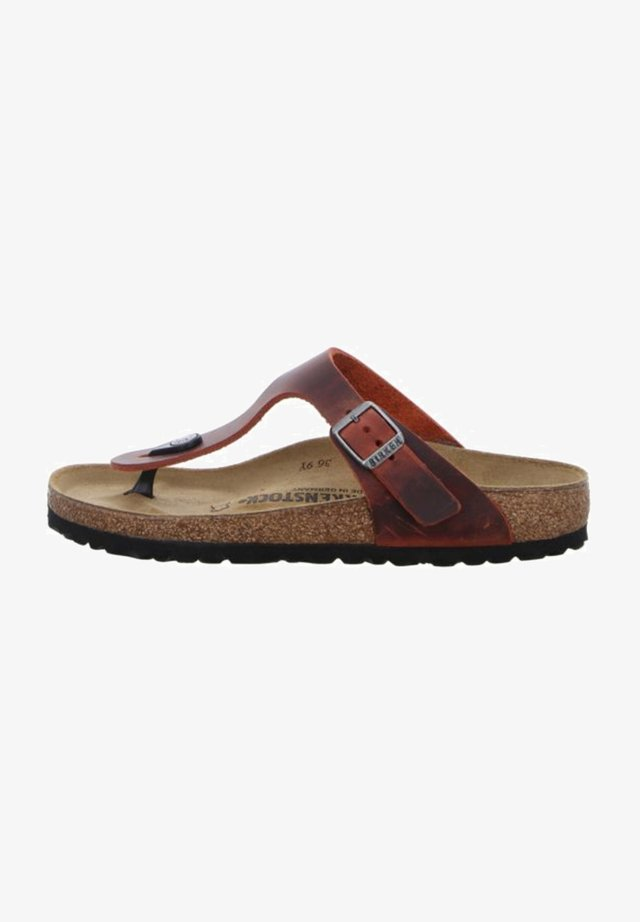 T-bar sandals - earthred
