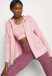 Nike Performance - DRY GET FIT - Zip-up sweatshirt - pink glaze/white - 3