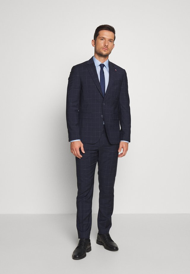 WINDOWPANE SLIM FIT SUIT - Dress - blue