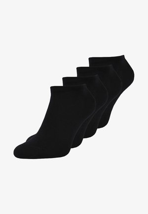 MEN SNEAKER 4 PACK - Ponožky - black