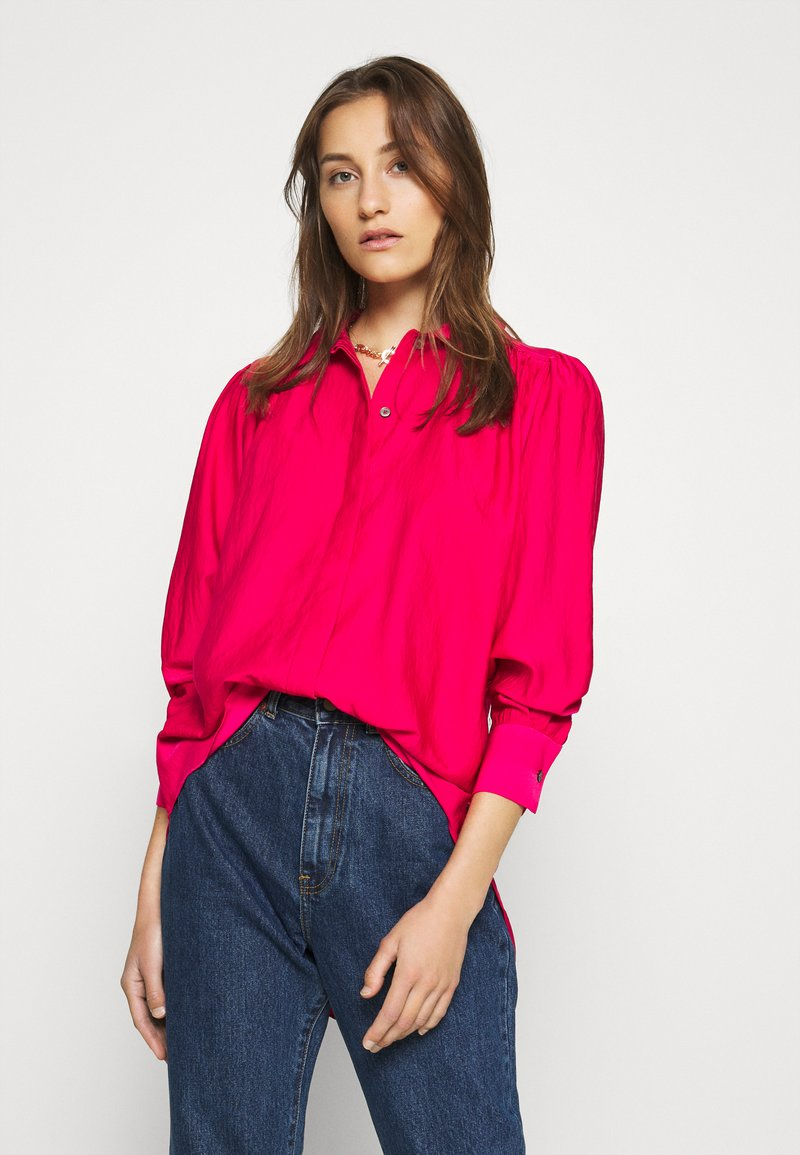 Tommy Hilfiger - SYLVIA BLOUSE - Button-down blouse - ruby jewel