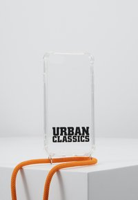 Urban Classics - PHONE NECKLACE WITH ADDITIONALS / I PHONE 6/7/8 - Obal na telefon - transparent/ orange - 0