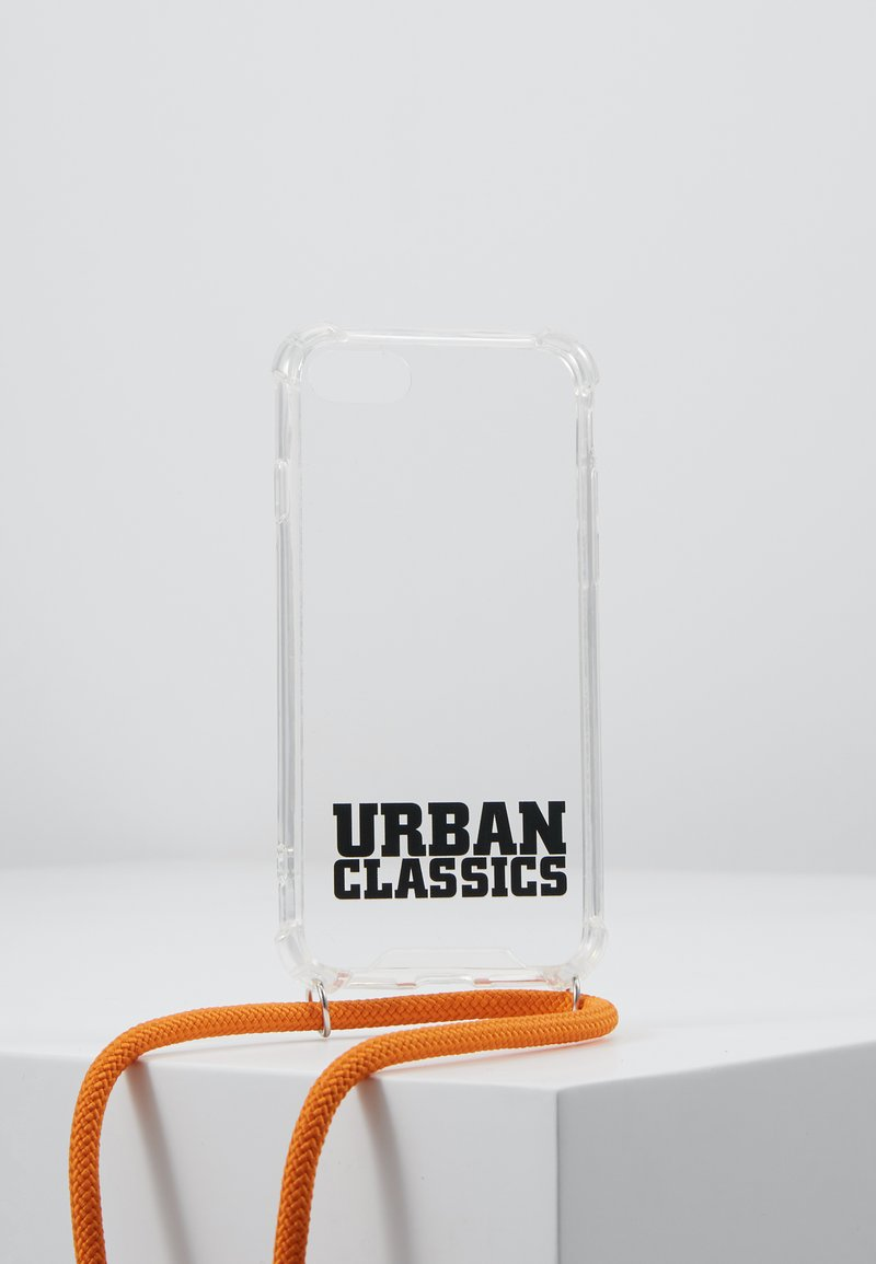 Urban Classics - PHONE NECKLACE WITH ADDITIONALS / I PHONE 6/7/8 - Obal na telefon - transparent/ orange