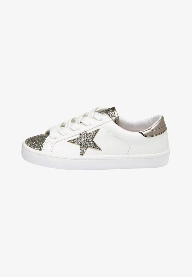 MULTI GLITTER STAR LACE-UP TRAINERS (OLDER) - Sneakers basse - white