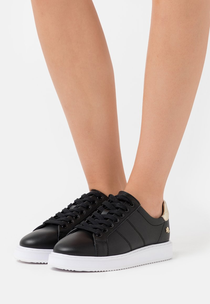 Lauren Ralph Lauren - ACTION ANGELINE - Sneakers laag - black/pale gold