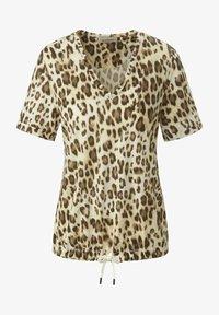 MARGITTES - Print T-shirt - beige/braun - 5