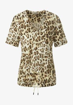 T-shirt print - beige/braun