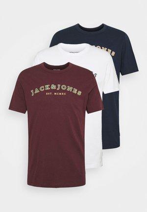 JJCROSS TEE 3 PACK - Print T-shirt - cloud dancer