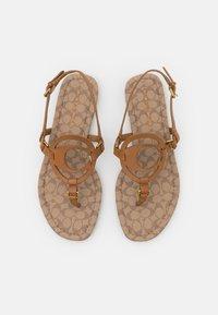 Coach - JERI - T-bar sandals - light saddle/stone - 4