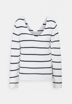 VIRUSH LIGHT - Sweter - navy blazer/white alyssum