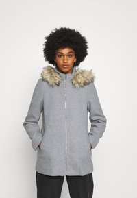 Vero Moda - VMCOLLARYORK COLLAR JACKET - Classic coat - light grey melange - 0