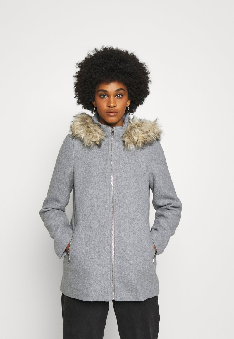 Vero Moda - VMCOLLARYORK COLLAR JACKET - Classic coat - light grey melange