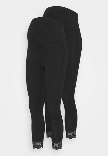 MLELIANA 2 PACK - Legging - black