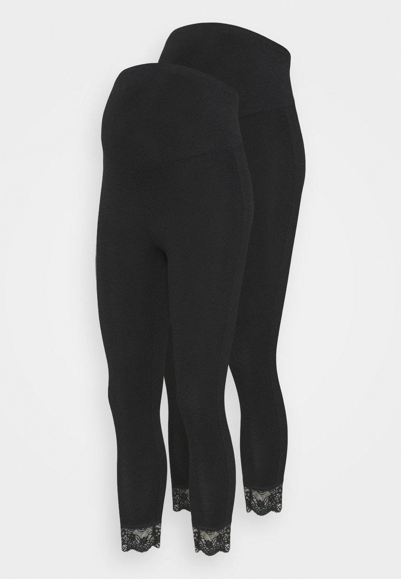 MAMALICIOUS - MLELIANA 2 PACK - Leggings - black
